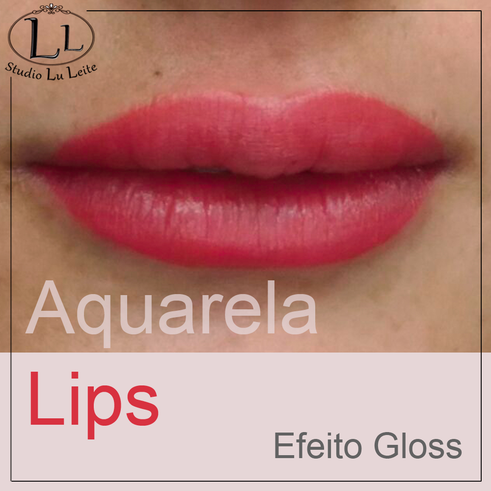 Tácnica Aquarela Lips